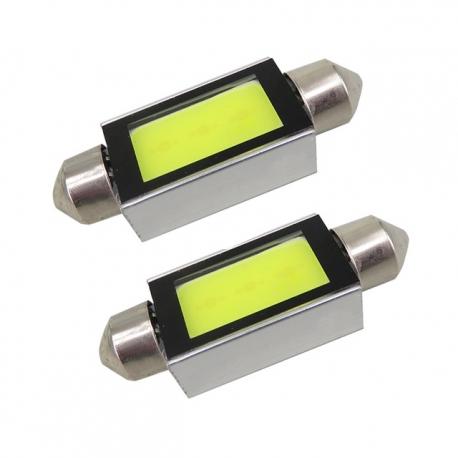 Veilleuses ampoules navette C5W à Led 4W CANBUS
