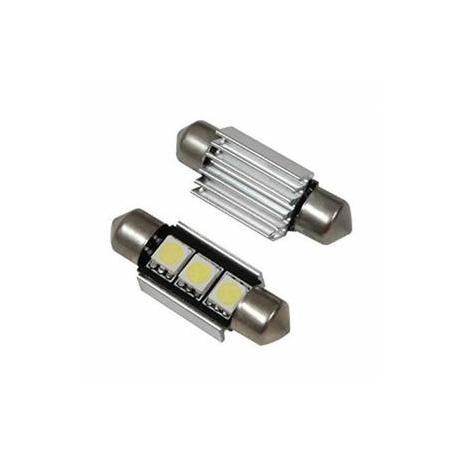 Veilleuses ampoules navette C5W à Led 1W CANBUS
