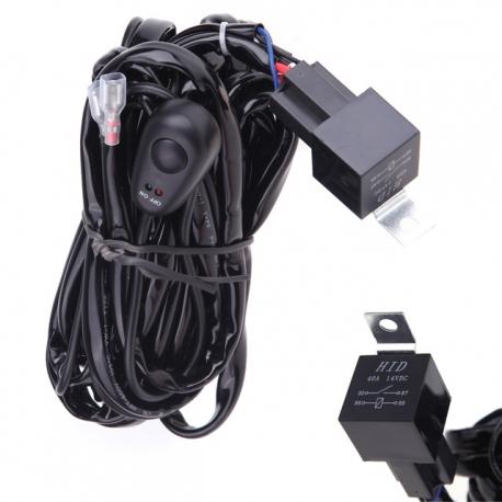 Cable relais avec interrupteur pour rampe et barre de led - Kit douille cable interrupteur ...