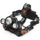 Lampe torche frontale LED XML T6 3x 10W - Trilogie