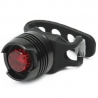 Eclairage LED arrière vélo et VTT rouge universel en aluminium