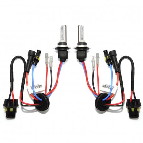 Ampoules xenon courtes H7C 55W haut de gamme metal & ceramique