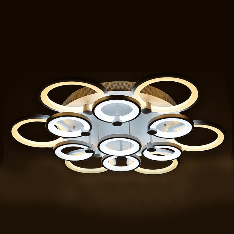 Lustre de salon luminaire d 39 int rieur led pour plafond for Eclairage led interieur plafond