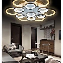 Lustre de salon luminaire d'intérieur éclairage à LED moderne pour plafond 13 modules