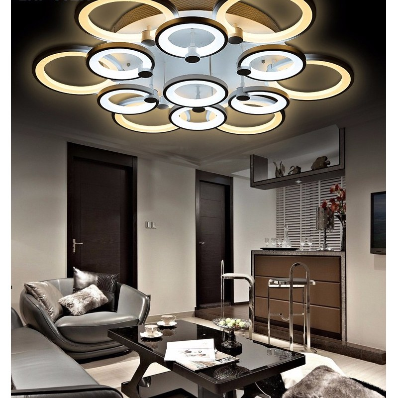 lustre de salon luminaire d 39 int rieur led pour plafond. Black Bedroom Furniture Sets. Home Design Ideas