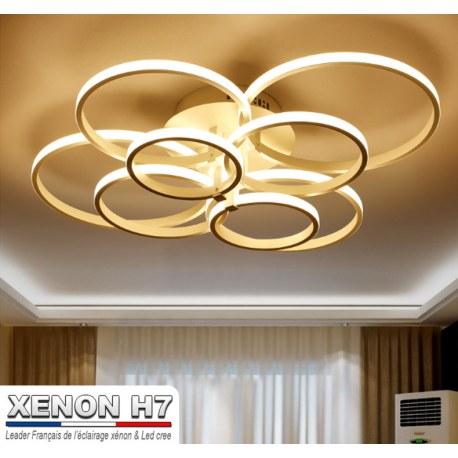 Lustre led de salon moderne luminaire dintérieur éclairage pour plafond 8 modules
