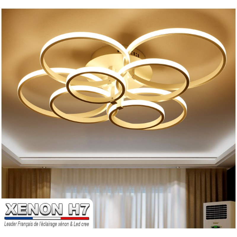 Lustre led de salon moderne luminaire d 39 int rieur for Eclairage led interieur plafond