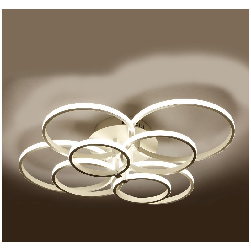 Lustre led de salon moderne luminaire d 39 int rieur for Eclairage salon moderne