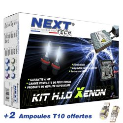 Kit xénon H7+H9 55 Watts XPO anti-erreur ballast aluminium pour moto et scooter