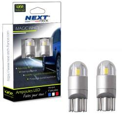 Ampoules T10 LED W5W Voiture - Auto - Moto - Blanc