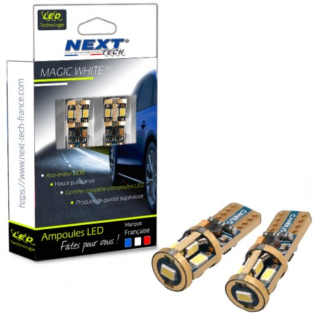 Ampoules veilleuses T10 W5W LED Super Canbus anti-erreur ODB GOLD