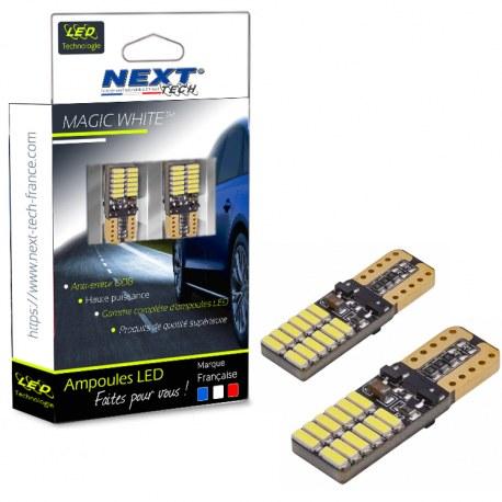 T10 W5W LED plates Canbus anti erreur ODB