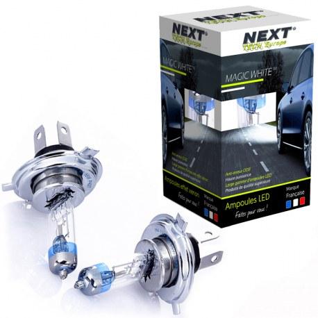 Ampoules effet xenon H4 100W Magic White Next-Tech®
