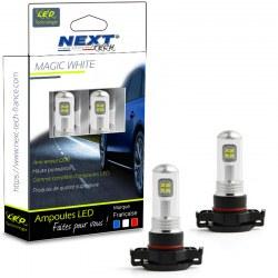 Ampoules H16 PSX24W LED 35W haute puissance - Blanc