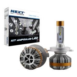 Ampoules Canbus LED H4 55W ventilées haut de gamme Next-Tech®