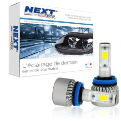 Ampoules H11 LED mini ventilées 75W blanc - Next-Tech®