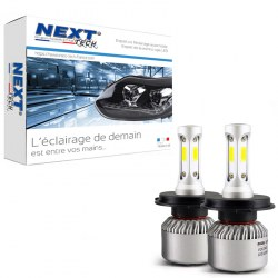 Ampoules H4 LED mini ventilées 75W blanc - Next-Tech®