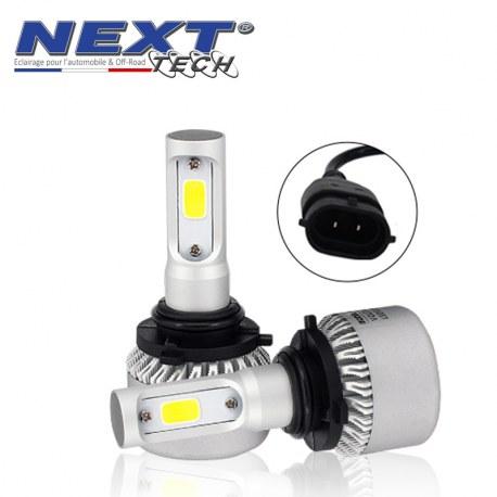Ampoules HB3 9005 LED mini ventilées 75W blanc - Next-Tech®