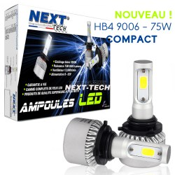 Ampoules HB4 9006 LED mini ventilées 75W blanc - Next-Tech®