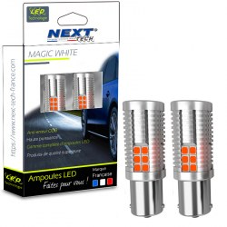 Ampoules CANBUS P21W BA15S LED Orange - Next-Tech®