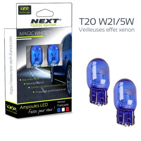 Veilleuses effet xenon type W21/5W T20