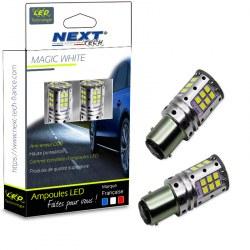 Ampoules LED P21/5W canbus ODB type BAY15D feux de jour - Blanc