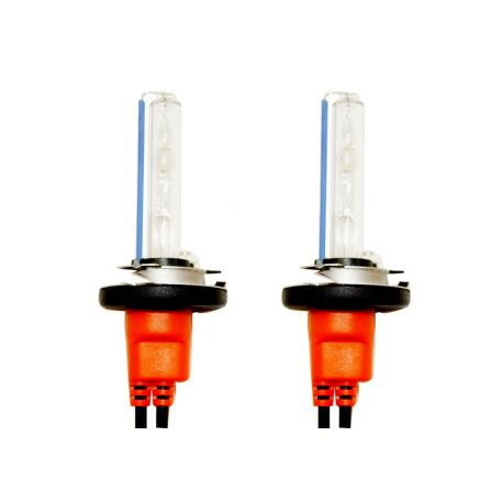 Ampoules xénon métal H1 Orange 55Watts de rechange - Vendues par paire