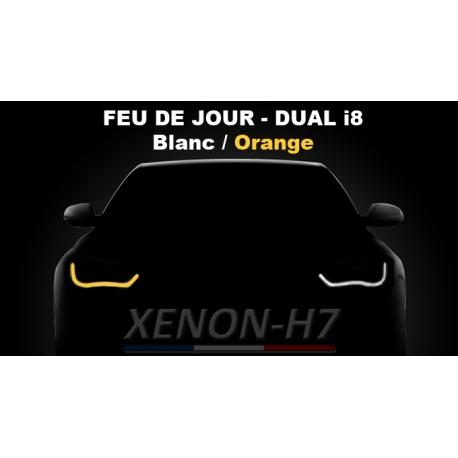 Feu de jour bande flexible DUAL i8 LED blanc et orange clignotant AUDI - BMW