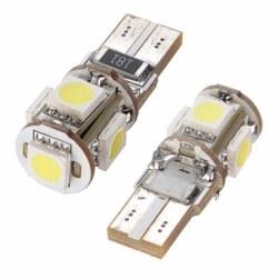 Ampoules veilleuses à LED T10 SMD 3W - Blanc