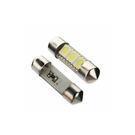 Veilleuses ampoules navette C3W à 3 Led CANBUS