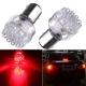 Ampoules P21W BA15S 1156 à 9 LED Rouge