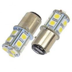 Ampoules P21/5W BAY15D 1157 à 13 LED Blanc