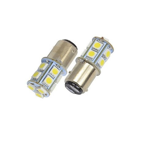 Ampoules P21/5W BAY15D 1157 à 13 LED Rouge