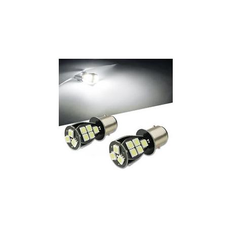 Ampoules P21/5W BAY15D 1157 à 18LED CANBUS Blanc