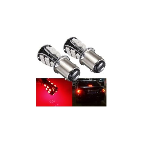 Ampoules P21/5W BAY15D 1157 à 18LED CANBUS Rouge