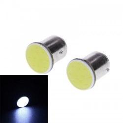 Ampoules P21W BA15S 1156 LED COB - Blanc