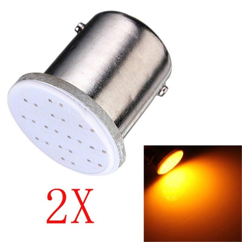 ampoules py21w bau15s led cob orange vendus par paire. Black Bedroom Furniture Sets. Home Design Ideas