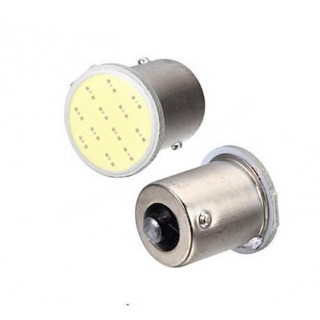 Ampoules PY21W BAU15S à LED COB - Rouge